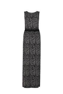 WE Fashion maxi jurk met stippen zwart (dames)