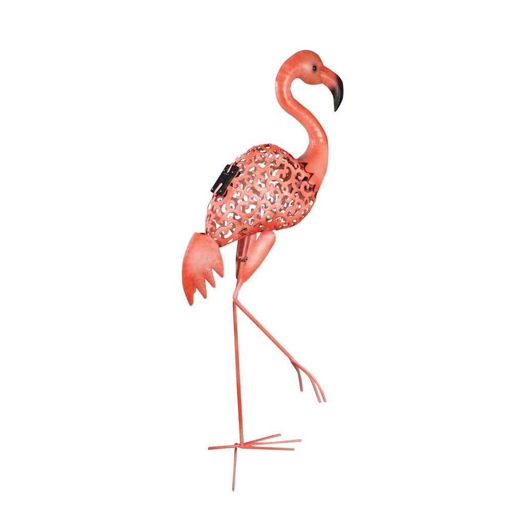 Luxform staande lamp flamingo (solar), Roze