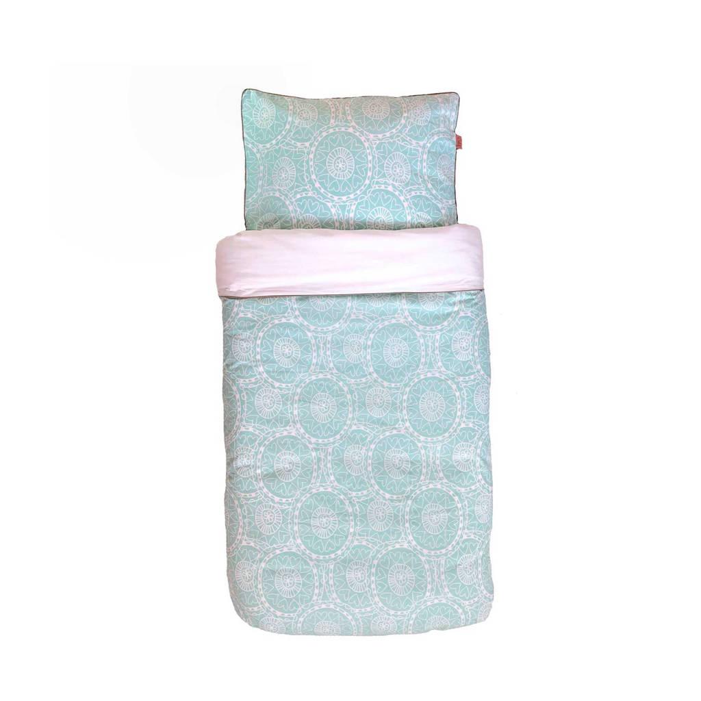 Witlof for kids katoenen Little lof Tuck-Inn® dekbedovertrek 120x150 cm mint offwhite junior, Mint offwhite