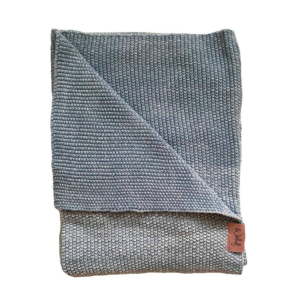 Witlof for kids Tuck-Inn® baby ledikantdeken ombre dusty blue, Ombre dusty blue
