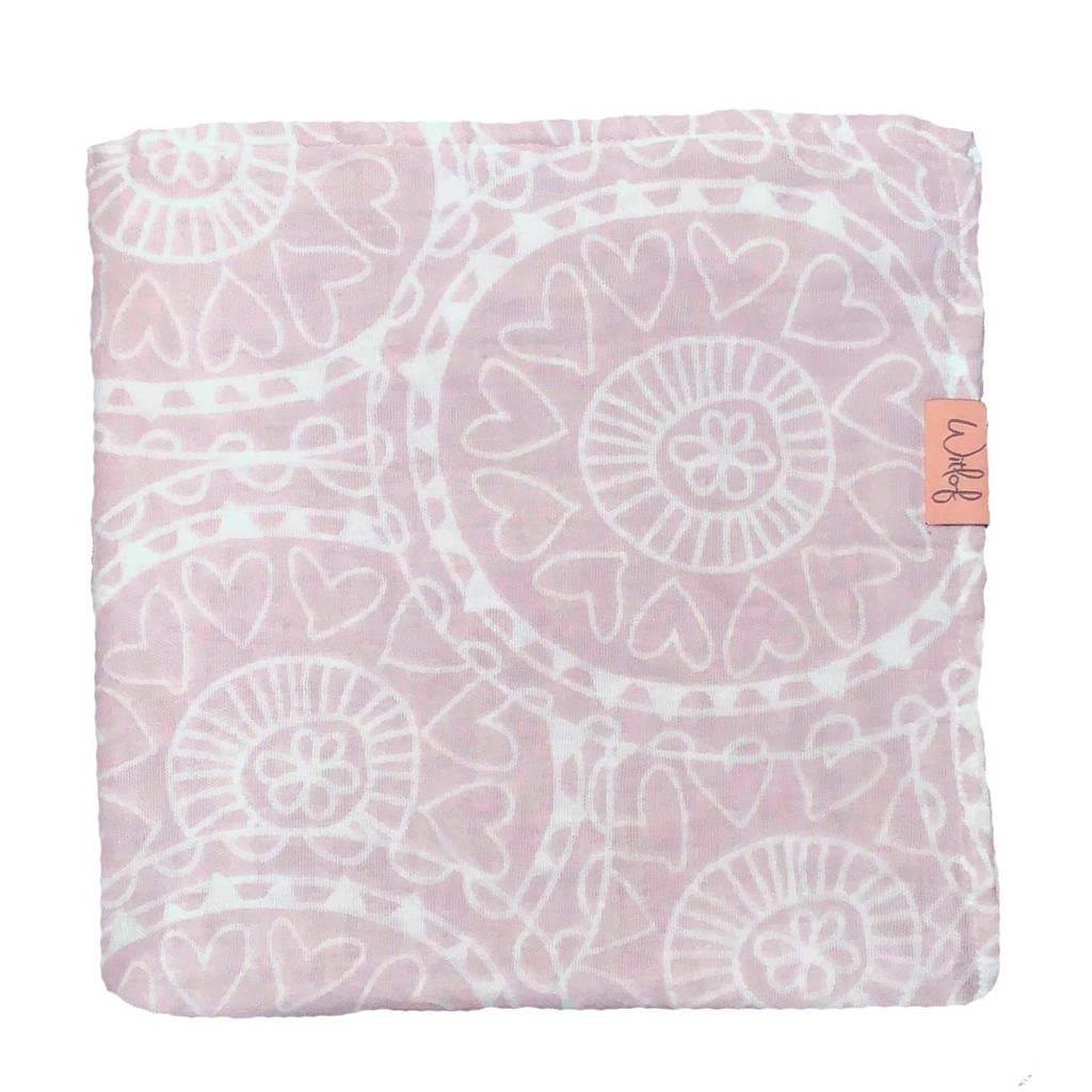 Witlof for kids Little lof hydrofiele doek 120x120 cm misty pink, Misty pink