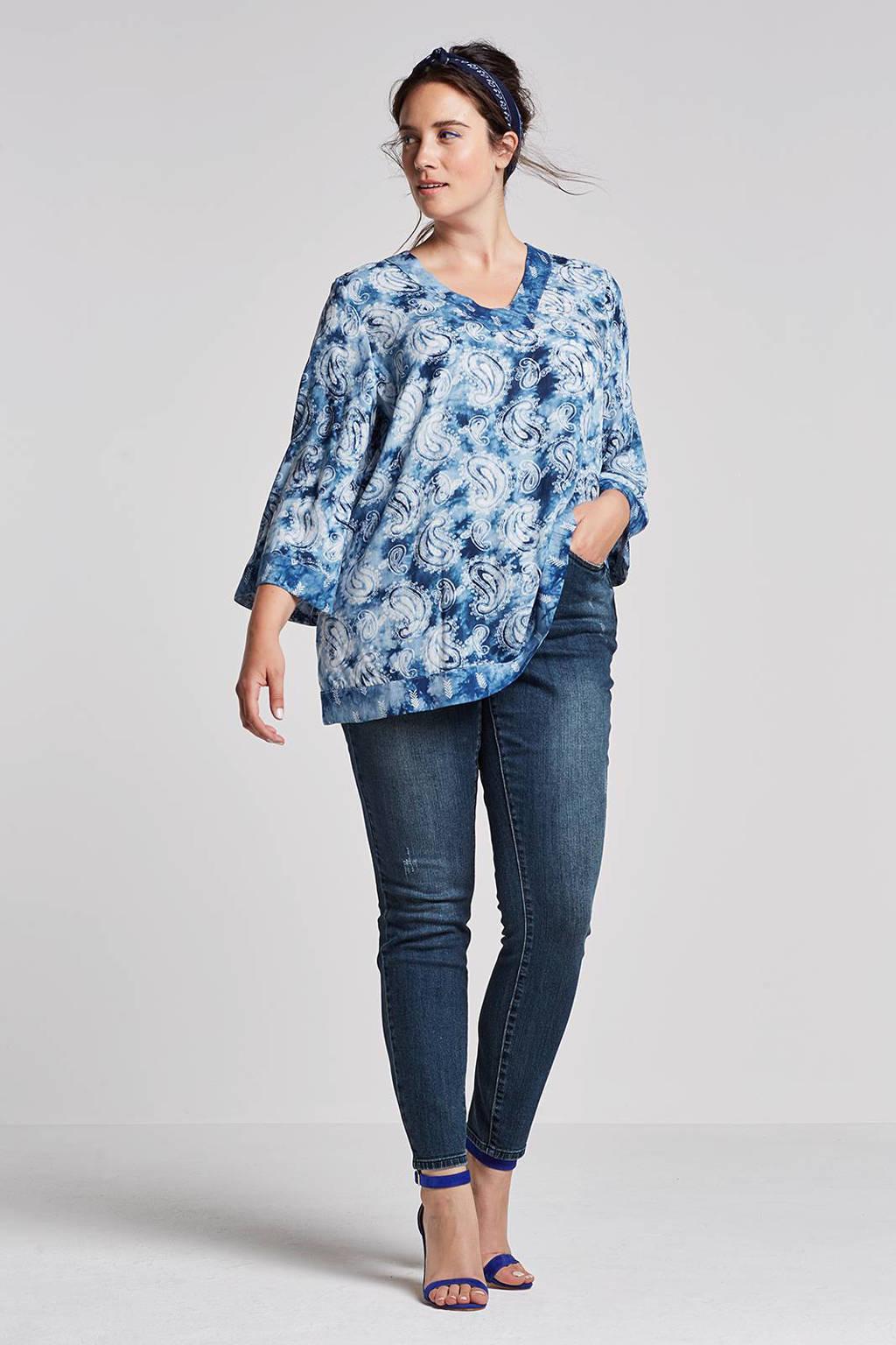 JUNAROSE slim fit jeans, Donkerblauw