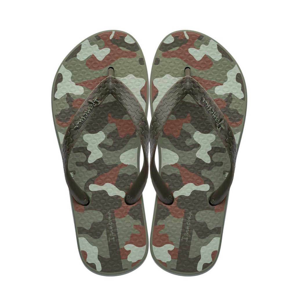 Ipanema Classic camouflage teenslippers, Kaki