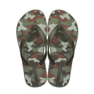 Classic camouflage teenslippers