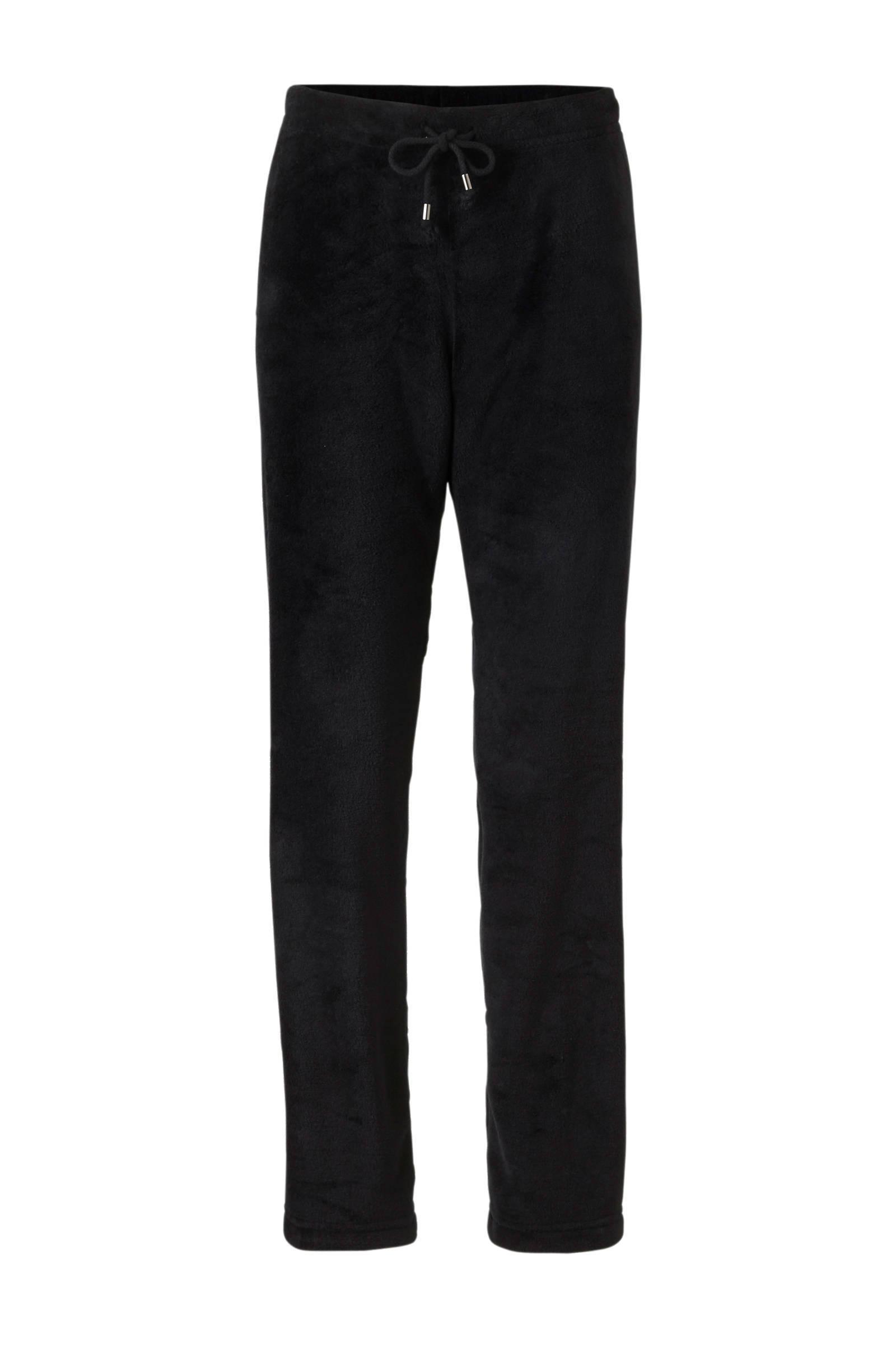 9a7b39a85f5 Pastunette fleece huispak grijs/zwart | wehkamp
