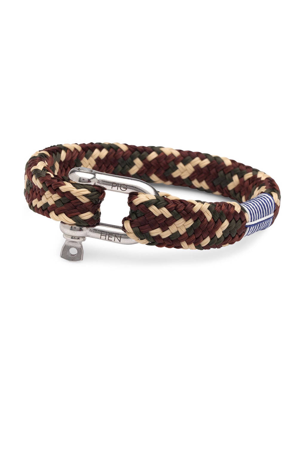 Pig & Hen armband Gorgeous George, Army/brown/sand /camo