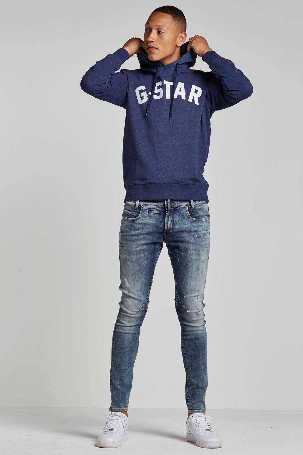 G-Star RAW skinny fit jeans D-Staq, Vintage medium aged small destroy