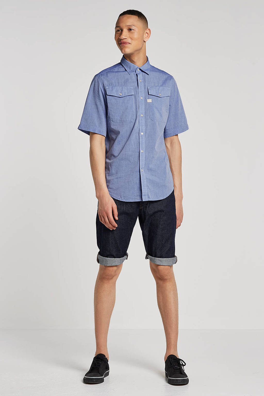 G-Star RAW Arc 3D straight fit jeans short, Rinsed