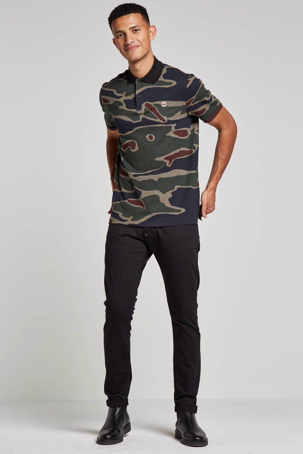 G-Star RAW Revend super skinny jeans, Zwart rinsed