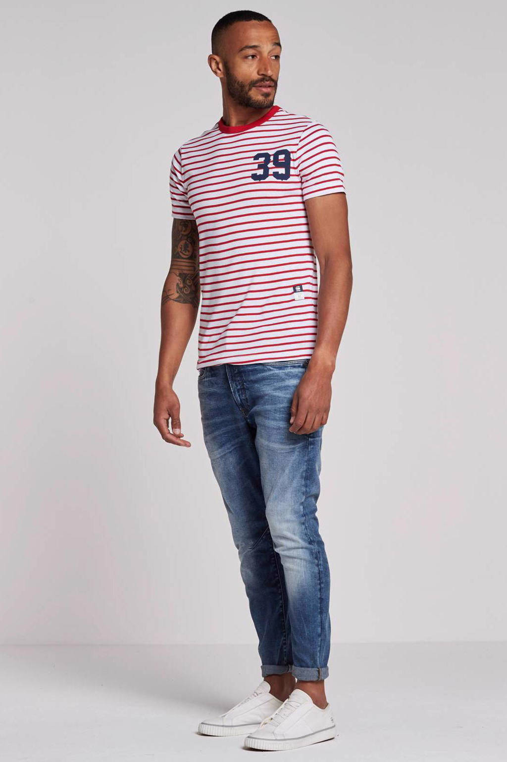 G-Star RAW T-shirt, Wit/rood
