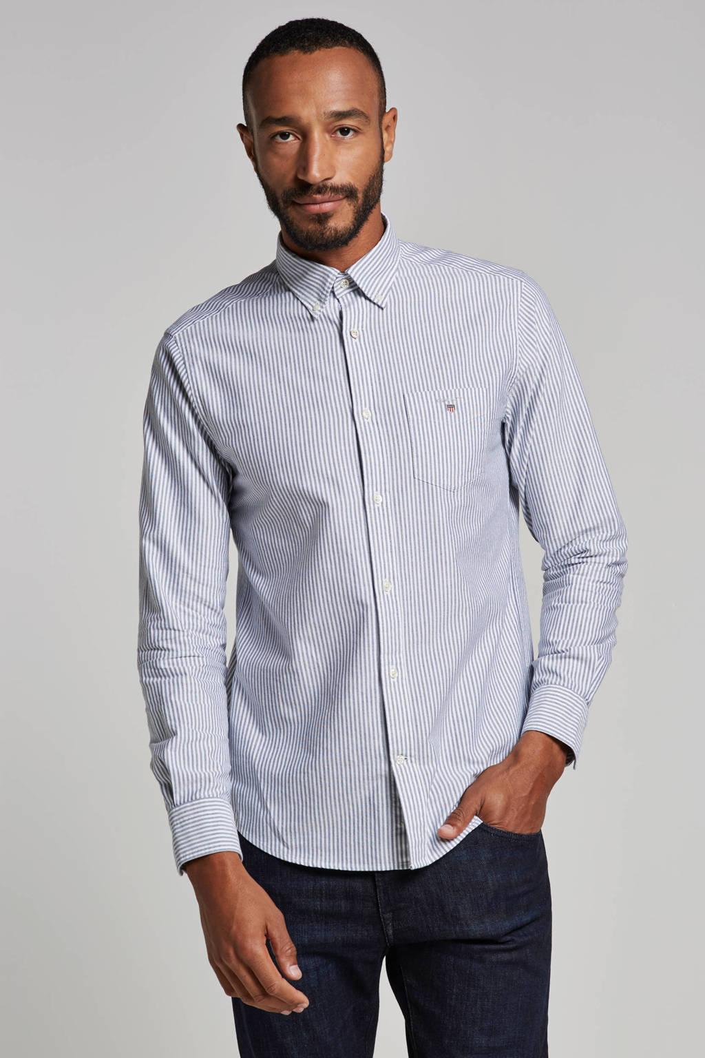 GANT regular fit overhemd, Blauw/wit