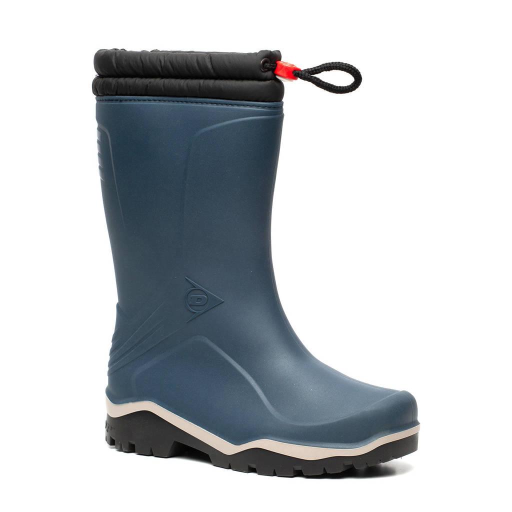Scapino Dunlop   gevoerde regenlaarzen kids, Donkerblauw/zwart/wit