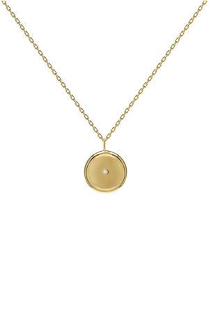 zilveren ketting goudkleurig - CO01-073-U