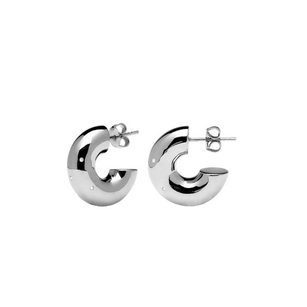 PD Paola oorstekers - AR02-053-U, Zilver