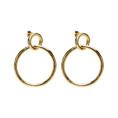 PD Paola zilveren oorstekers goudkleurig - AR01-037-U kopen