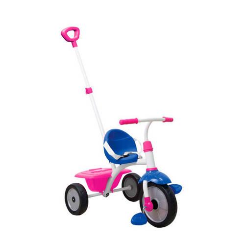 SmarTrike Fun driewieler met duwstang rood-blauw
