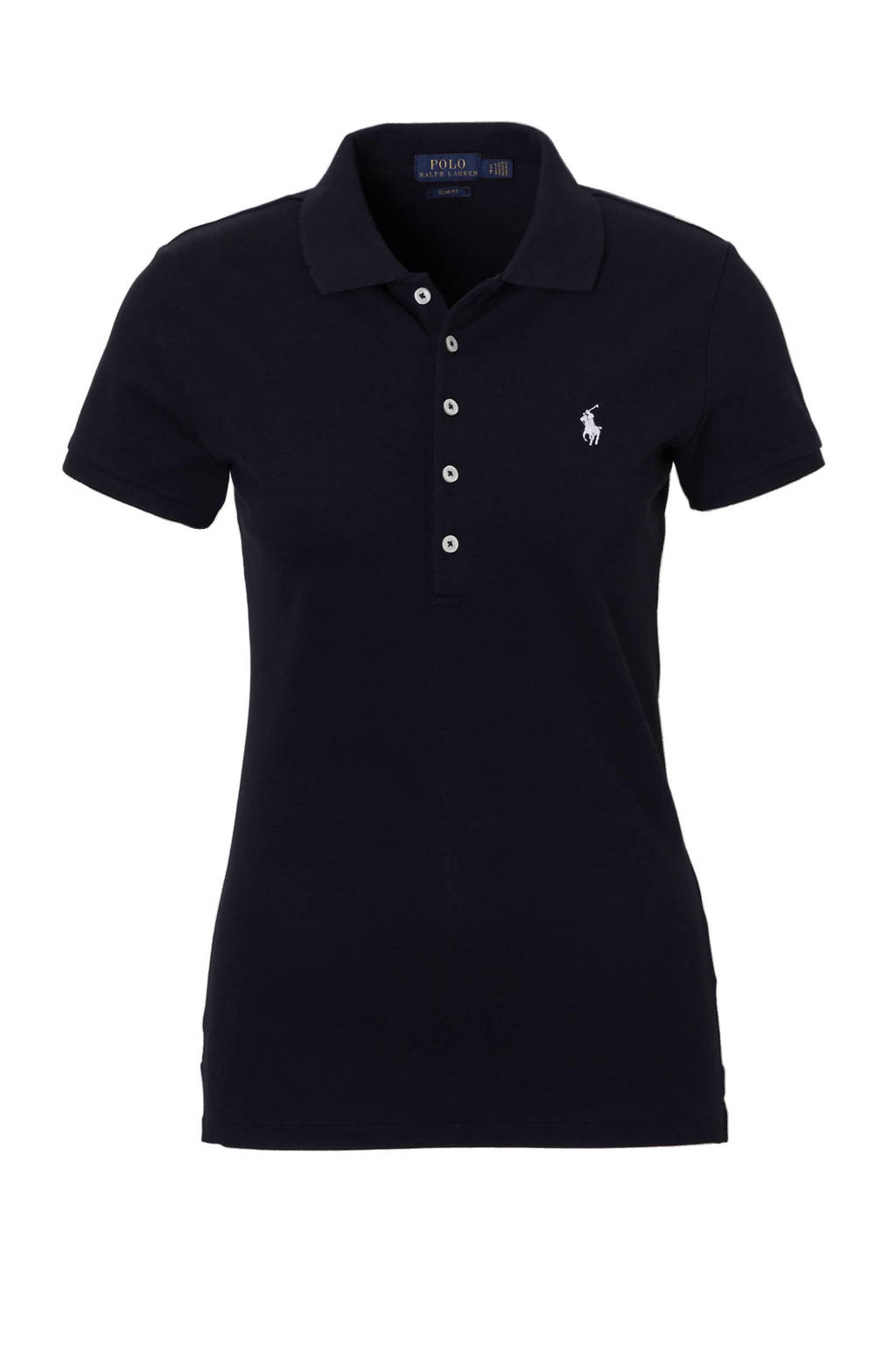POLO Ralph Lauren slim fit polo, Zwart/wit