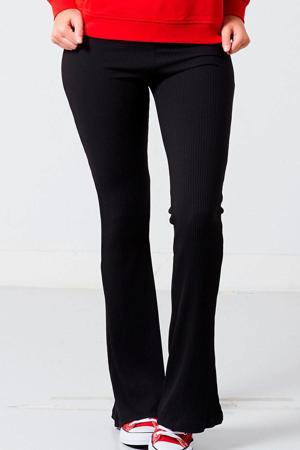 flared legging zwart