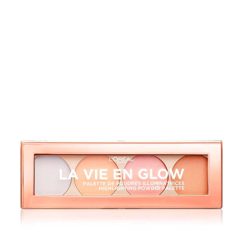 L'Oréal Paris Highlighter Palette La vie en Glow 02 Sunrise