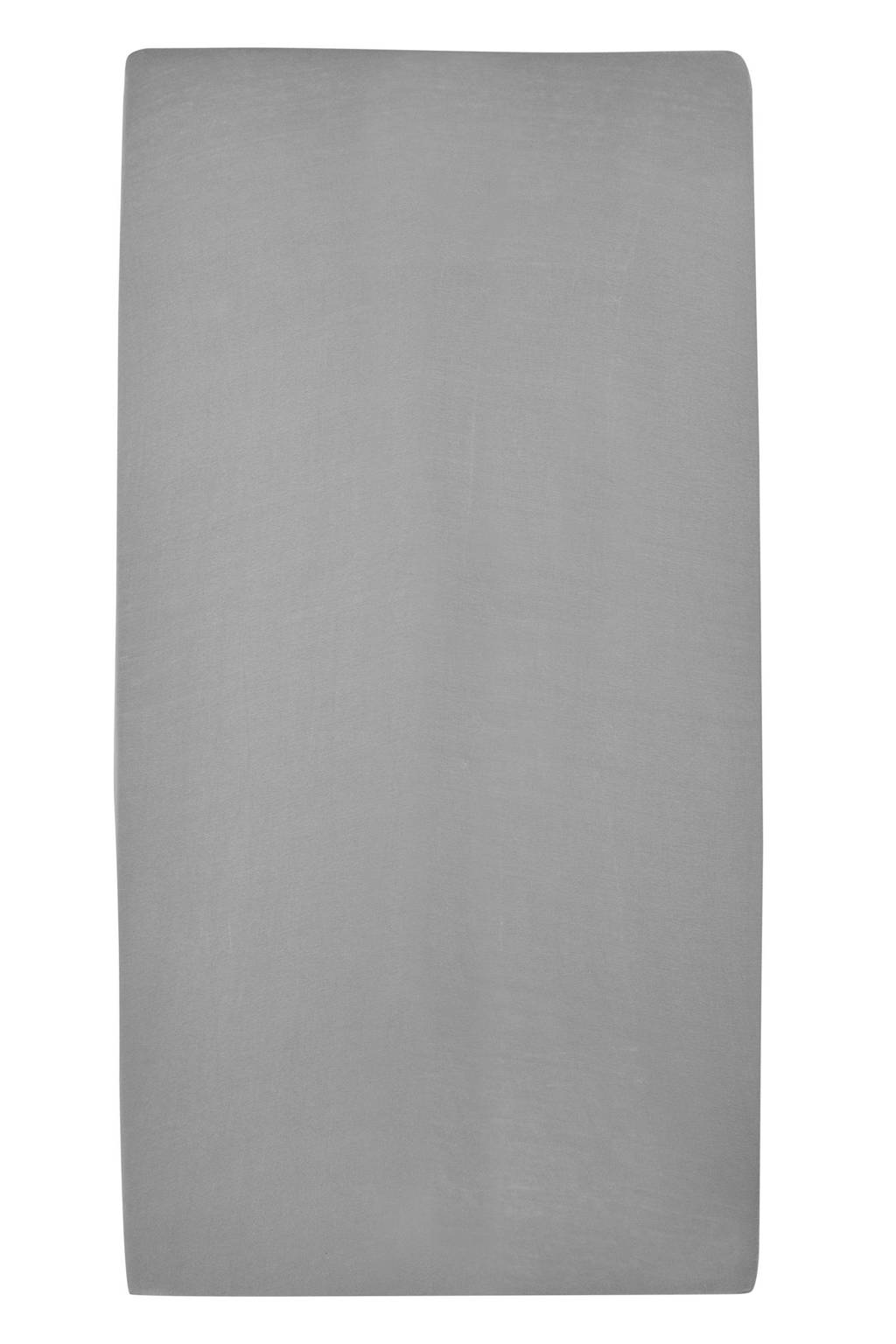 Meyco jersey hoeslaken wieg 40x80/90 cm Grijs