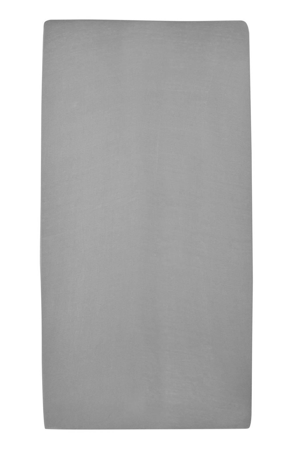 Meyco jersey baby hoeslaken ledikant 60x120 cm Grijs