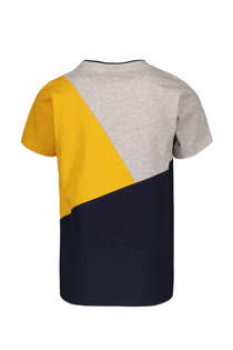Sissy-Boy T-shirt met colorblock okergeel