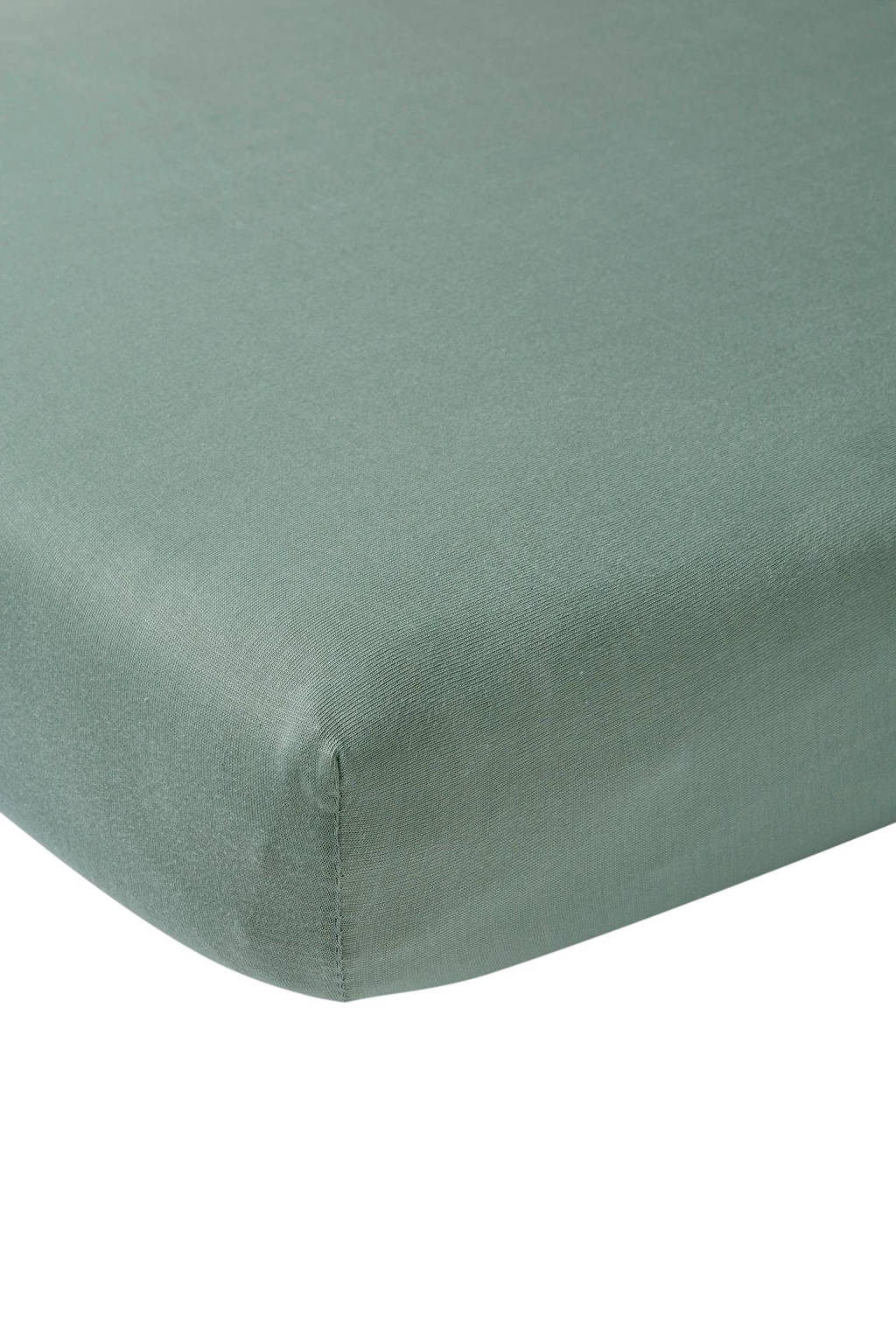 Meyco jersey hoeslaken peuterbed 70x140/150 cm Stone green, Stone Green