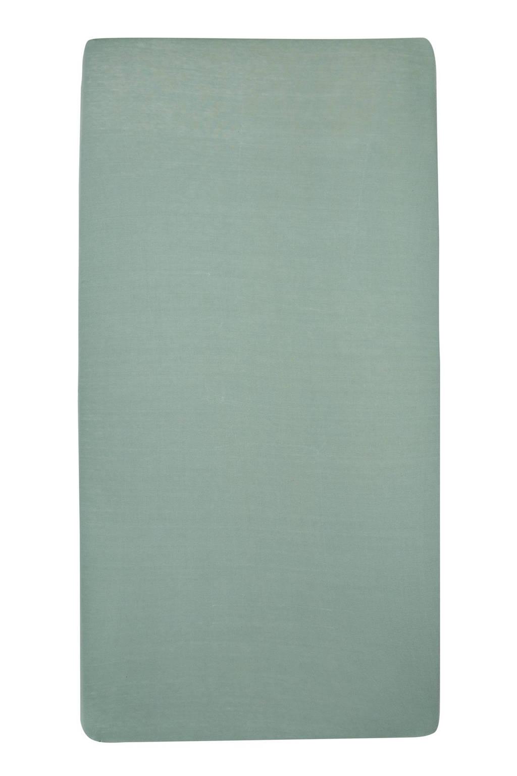 Meyco jersey hoeslaken peuterbed 70x140/150 cm Stone green, Stone Green