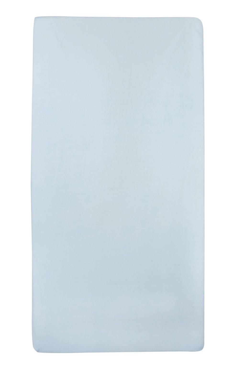 Meyco jersey baby hoeslaken ledikant 60x120 cm Lichtblauw