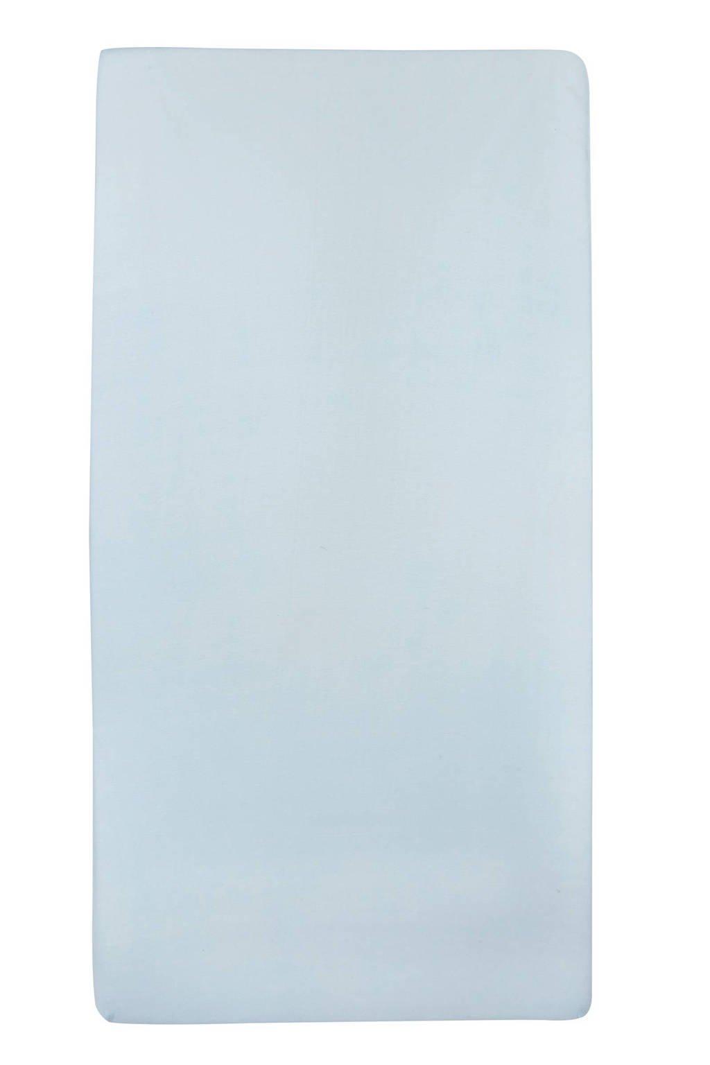 Meyco jersey hoeslaken ledikant 60x120 cm Lichtblauw