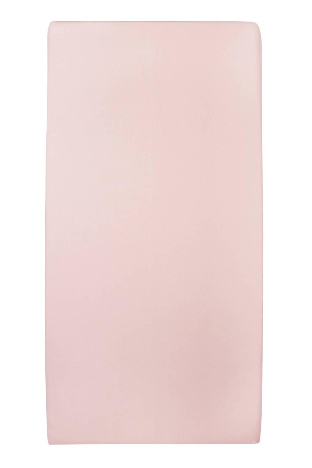 Meyco jersey hoeslaken peuterbed 70x140/150 cm Lichtroze
