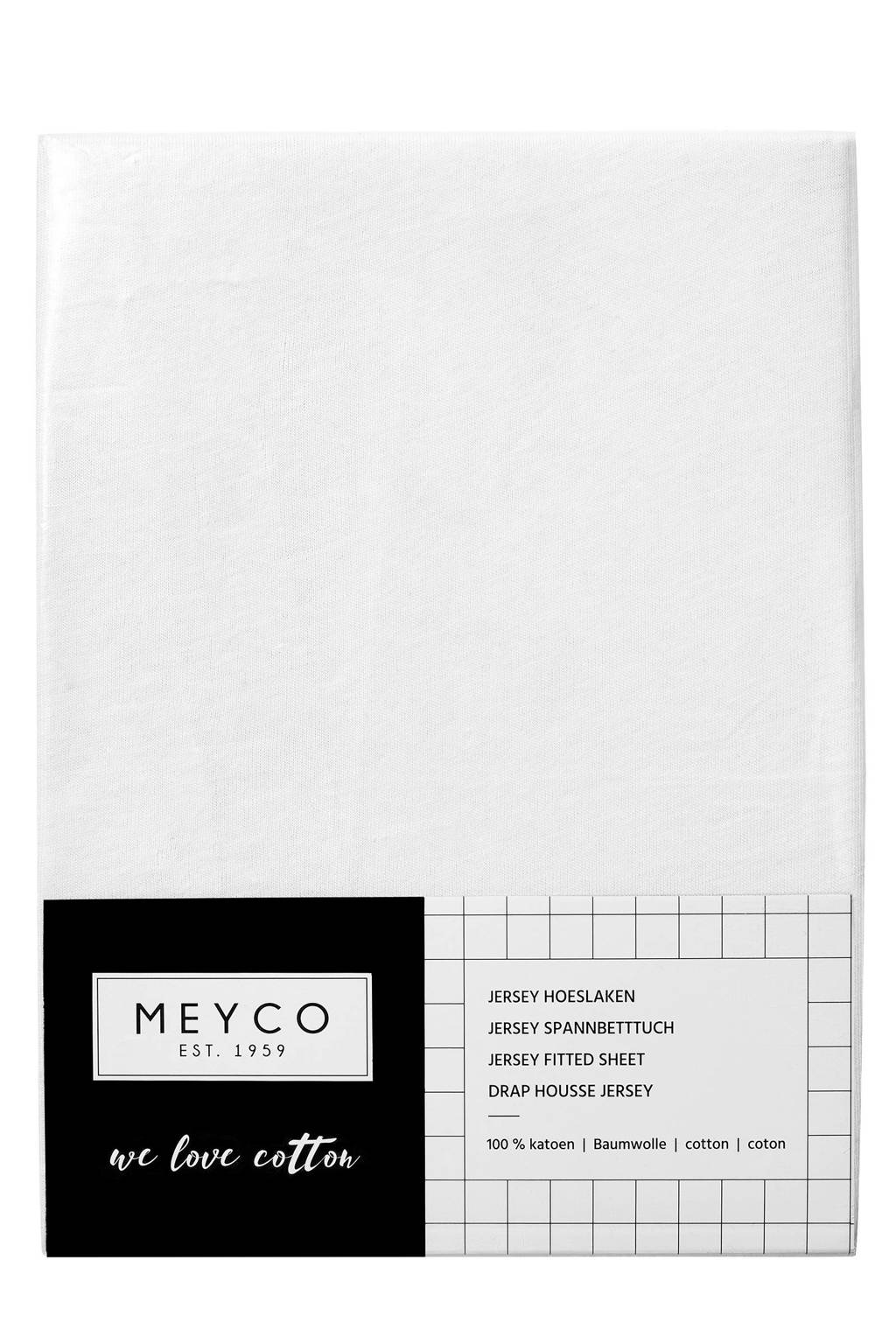 Meyco jersey hoeslaken wieg 40x80/90 cm Wit