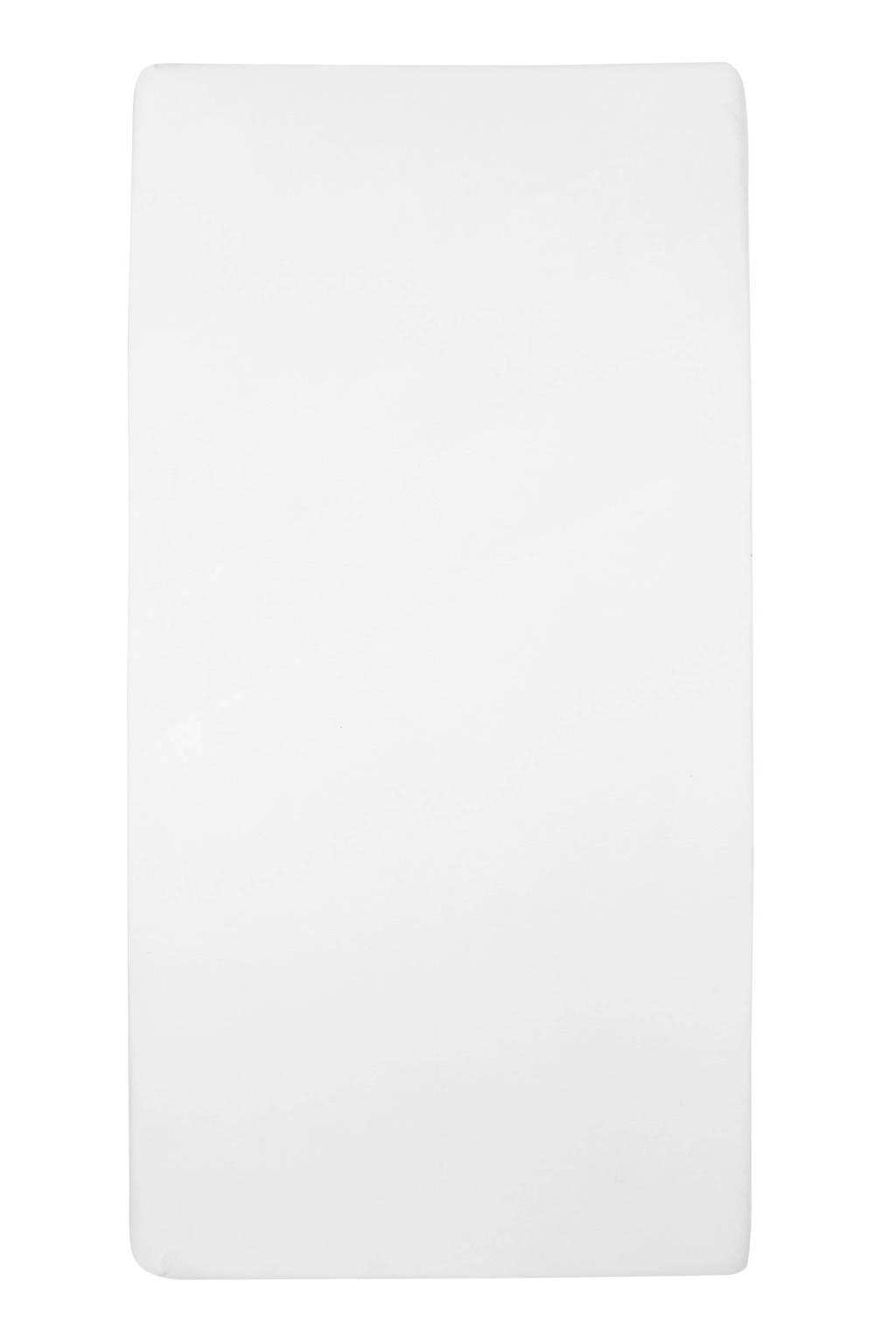 Meyco jersey hoeslaken ledikant 60x120 cm Wit
