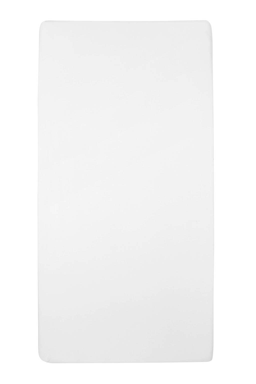 Meyco jersey hoeslaken peuterbed 70x140/150 cm Wit