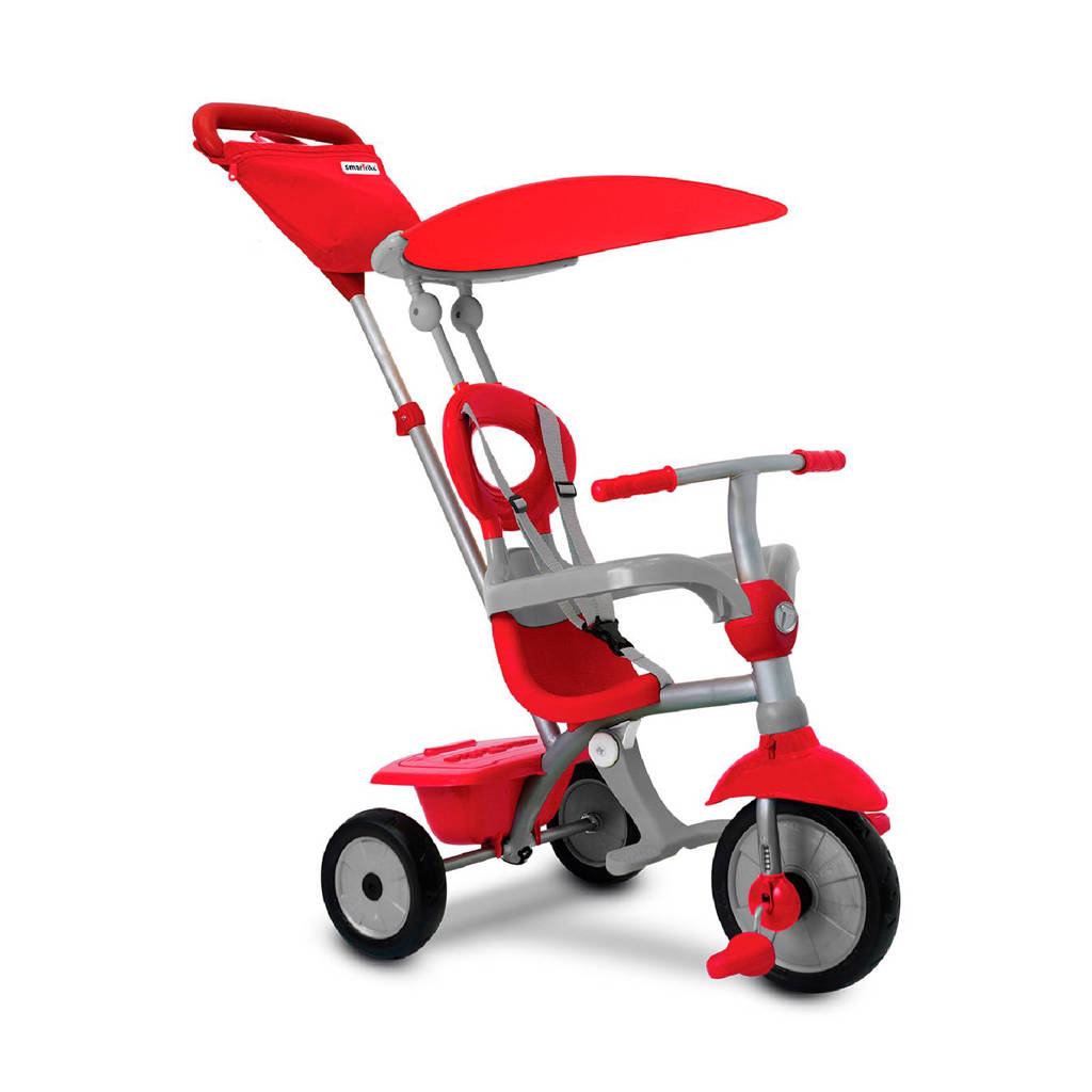 SmarTrike Zip Plus 3 in 1 driewieler, Rood/grijs