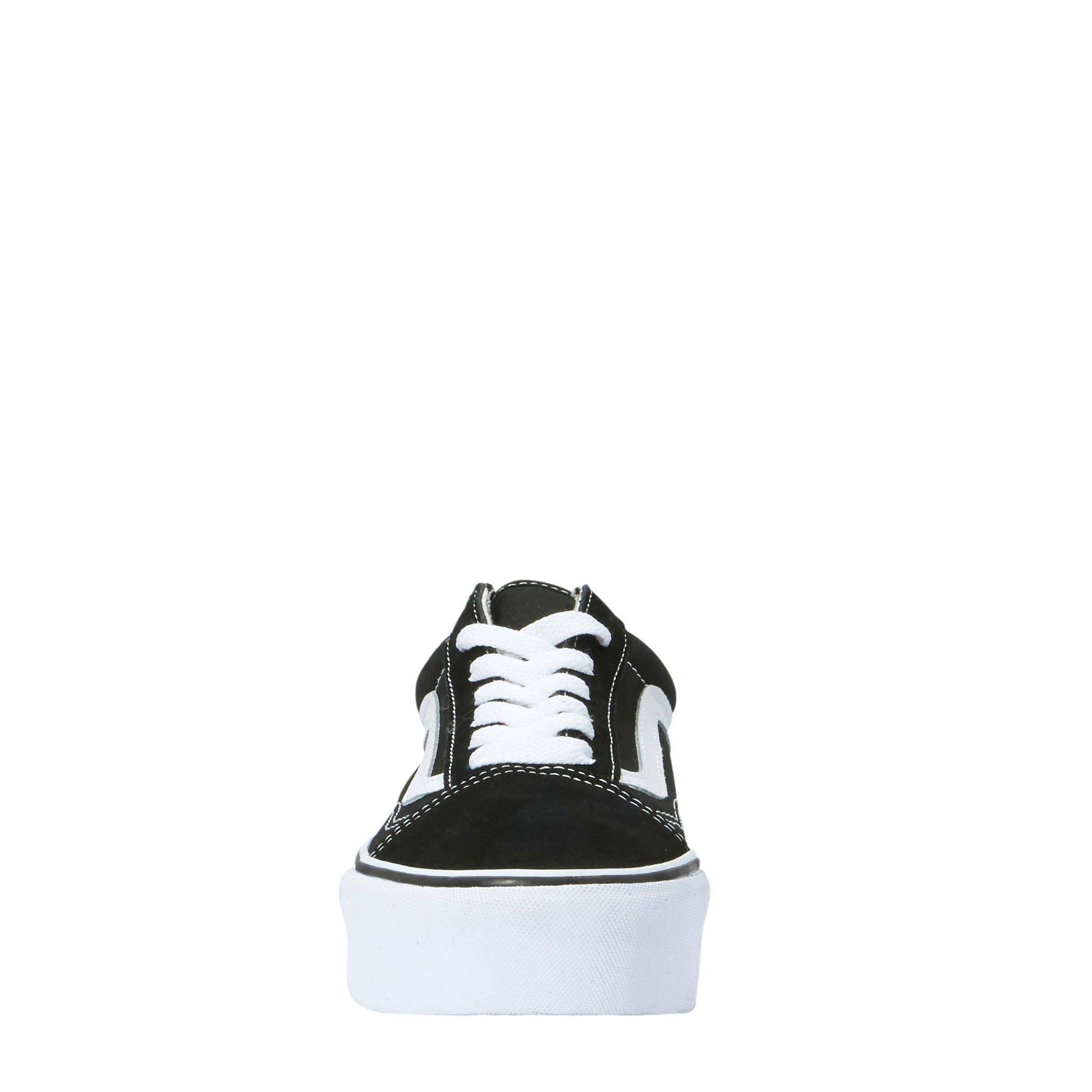VANS Old Skool Platform sneakers zwart/wit   wehkamp
