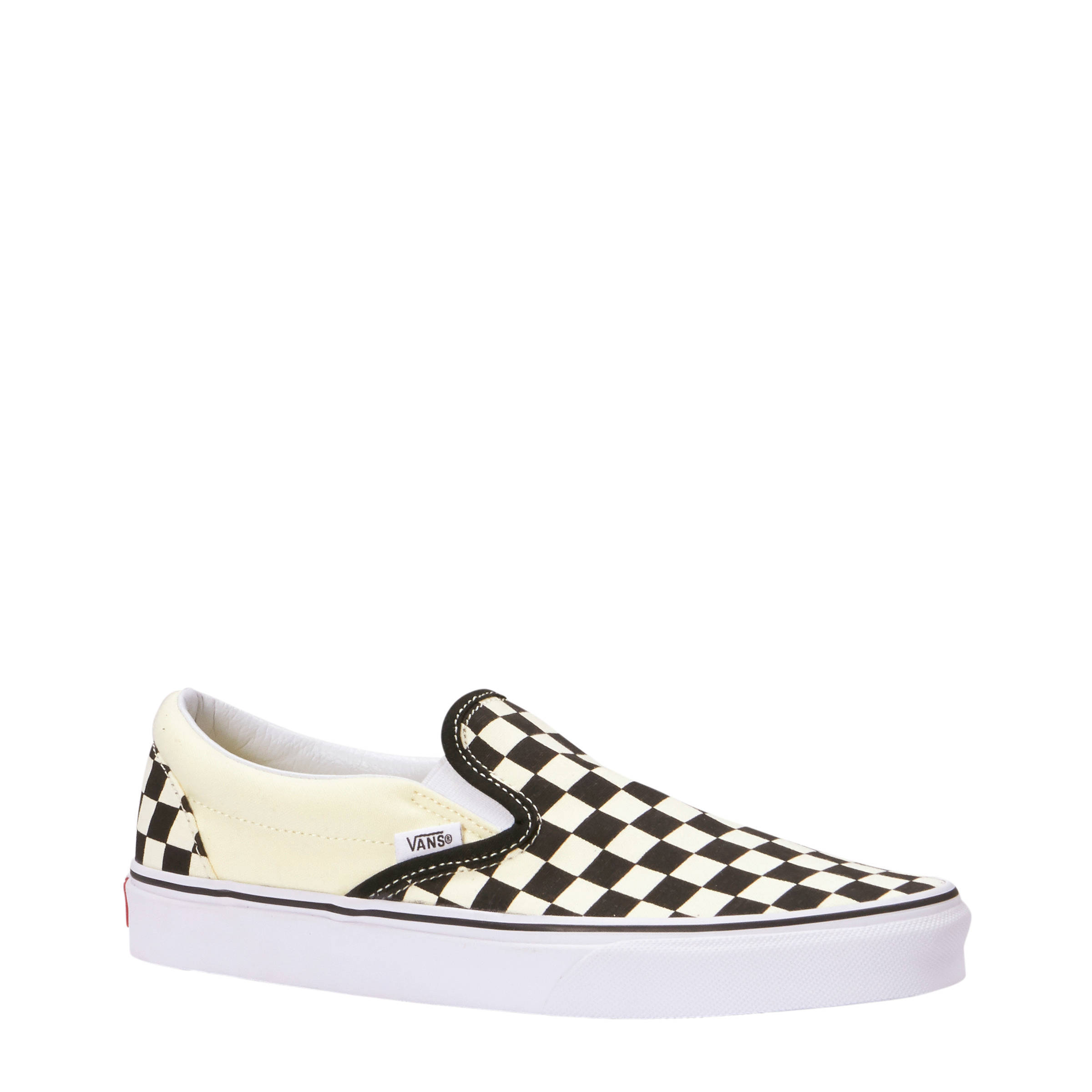 vans slip on zwart wit