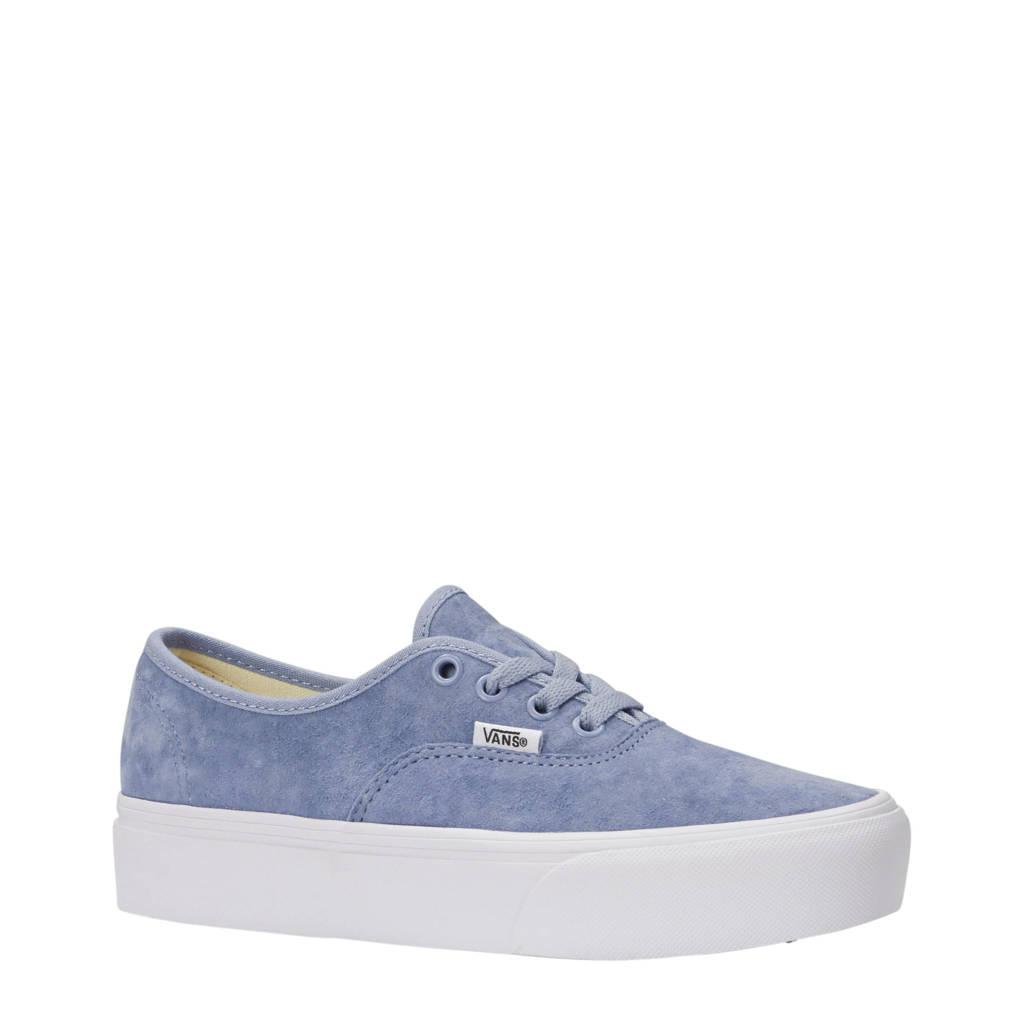 VANS  Authentic Platform 2.0 suède sneakers, Lichtblauw