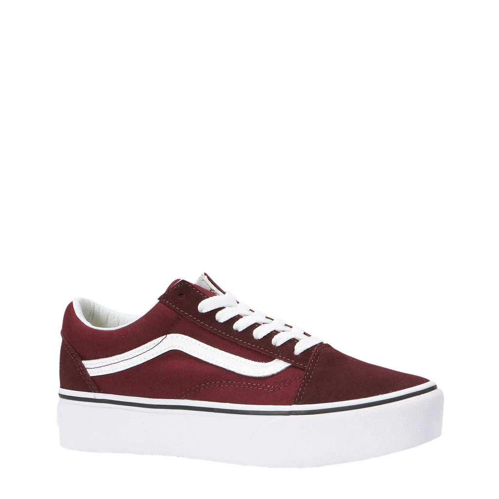 178e35611c1 VANS Old Skool Platform sneakers, Bordeauxrood