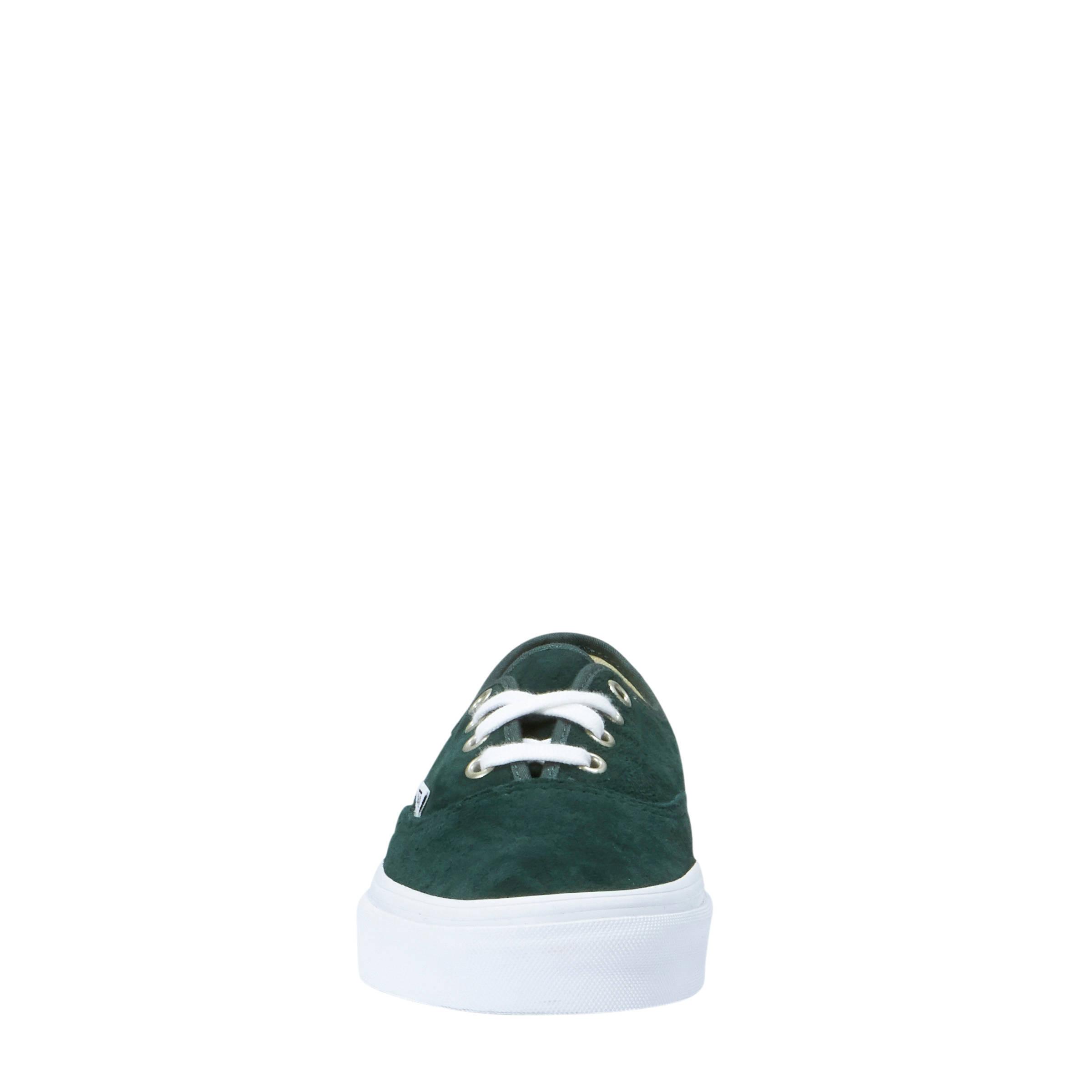 2b052cf291b VANS Authentic suède sneakers donkergroen | wehkamp