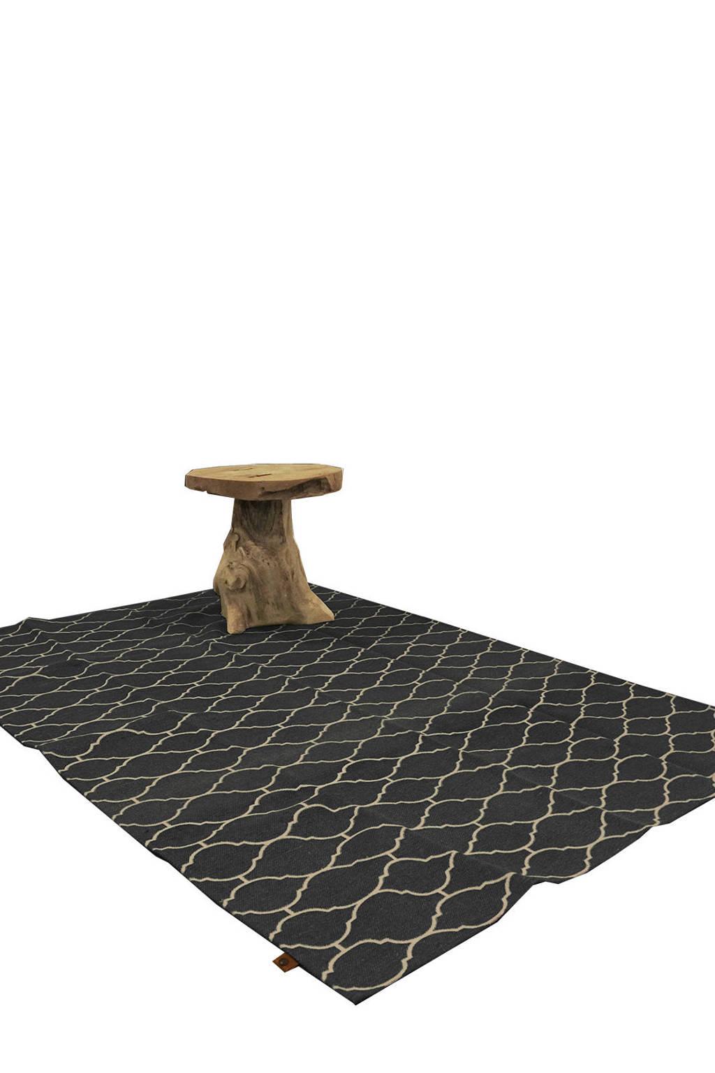 OVERSEAS vloerkleed   (170x120 cm), Antraciet/wit