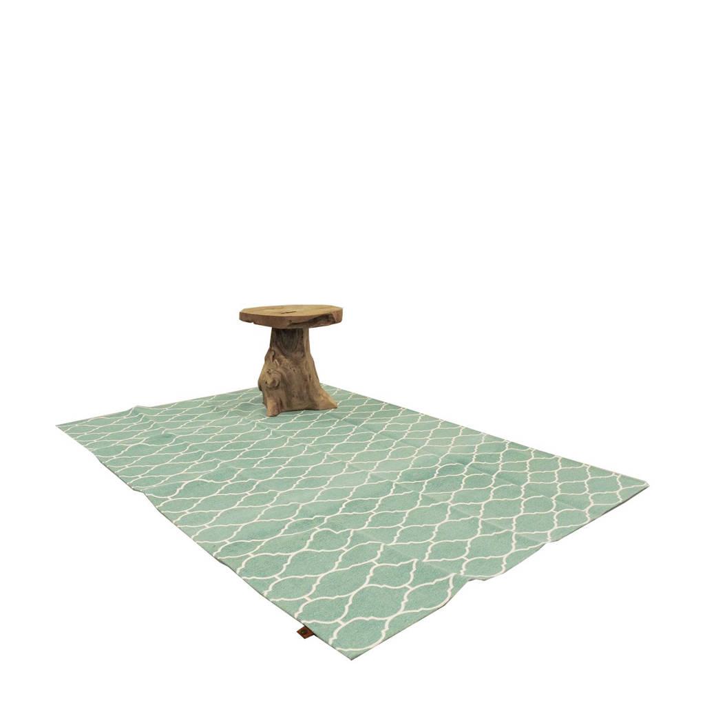OVERSEAS vloerkleed   (170x120 cm), Groen/wit