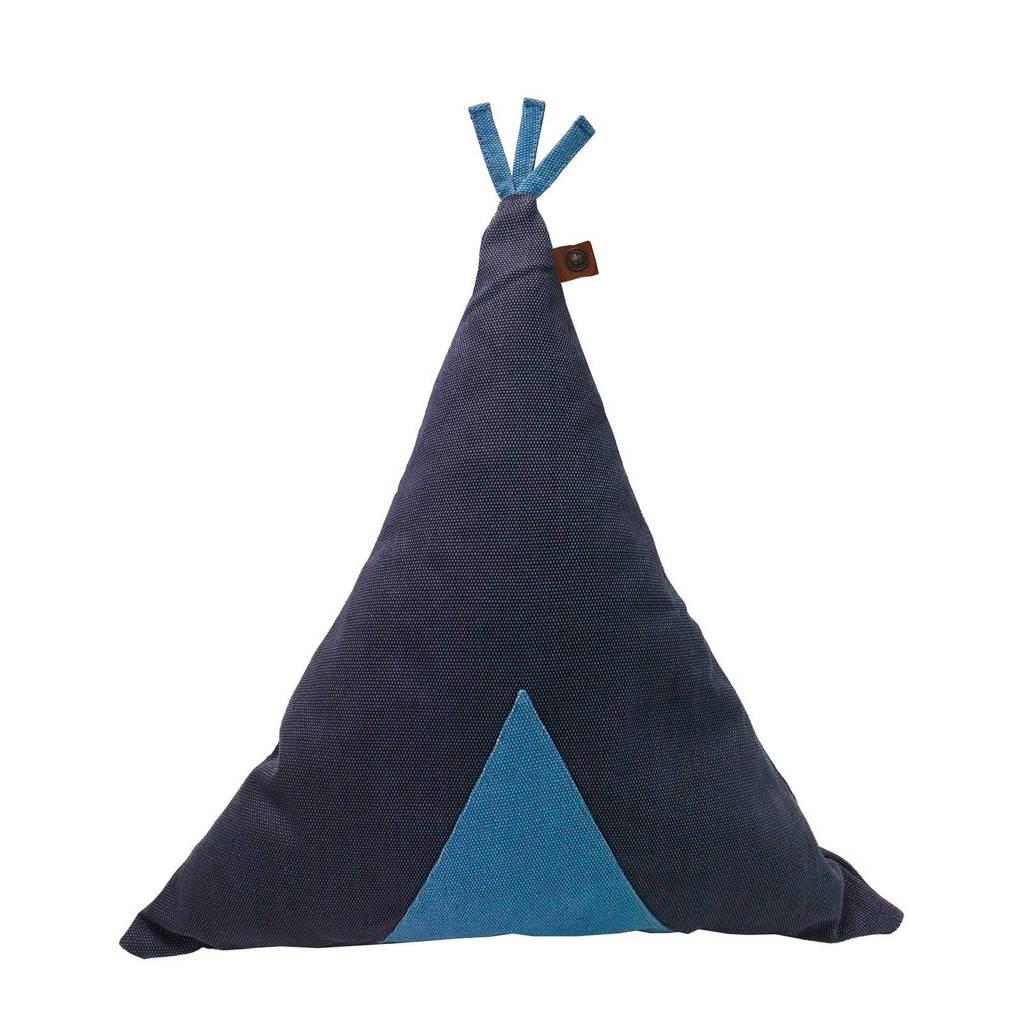 OVERSEAS Kidslife sierkussen (45x50 cm), Donkerblauw/lichtblauw