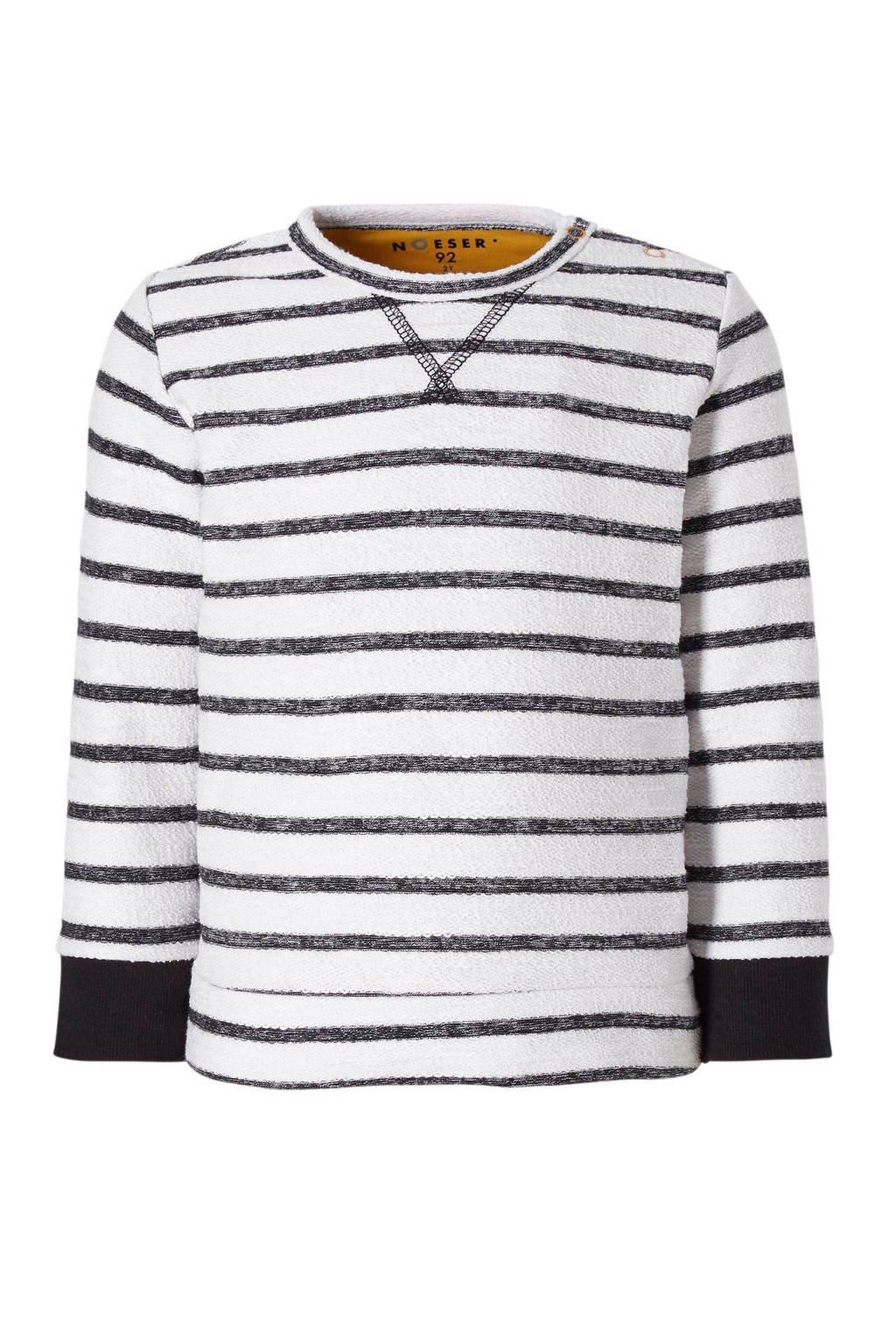 nOeser gestreepte sweater Lana wit/zwart, Wit/zwart