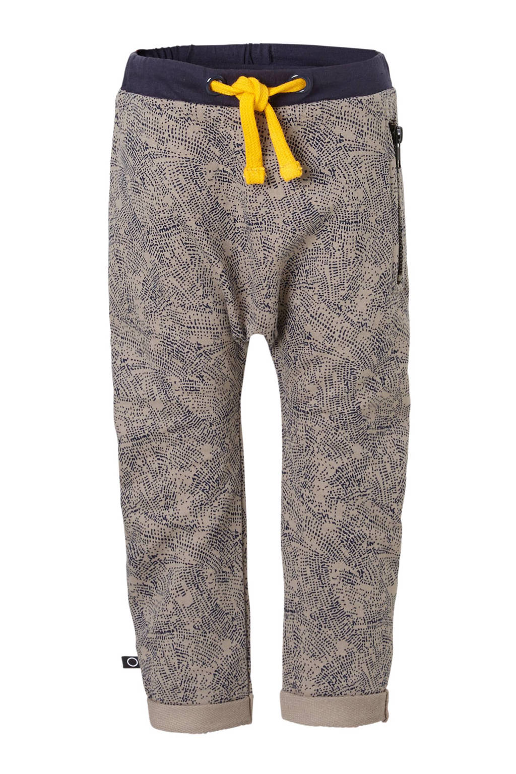nOeser   sweatpants Pim met all over print grijs, Grijs/donkerblauw
