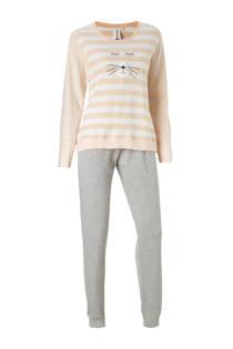 Rebelle pyjama met printopdruk zalm (dames)