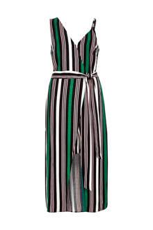 overslag jurk met strepen