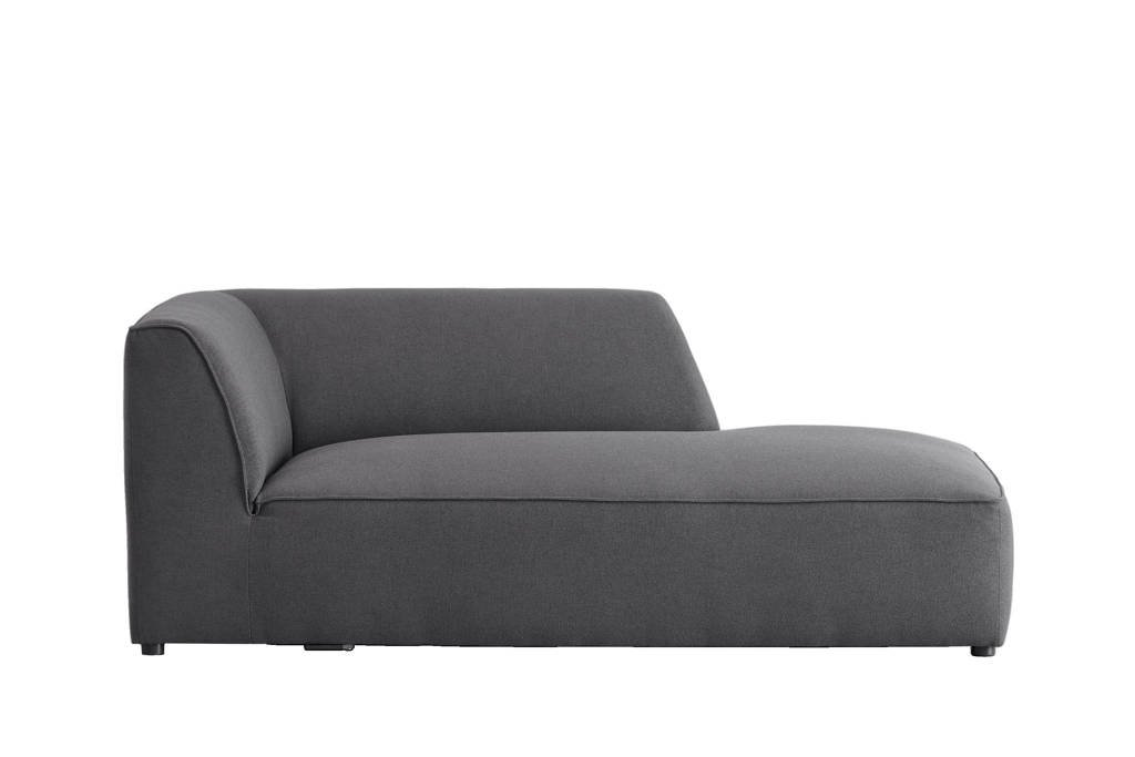 whkmp's own chaise longue met armleuning rechts Town, Antraciet
