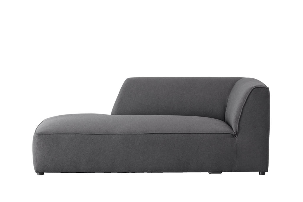 Wehkamp Home Town chaise longue met armleuning links, Antraciet