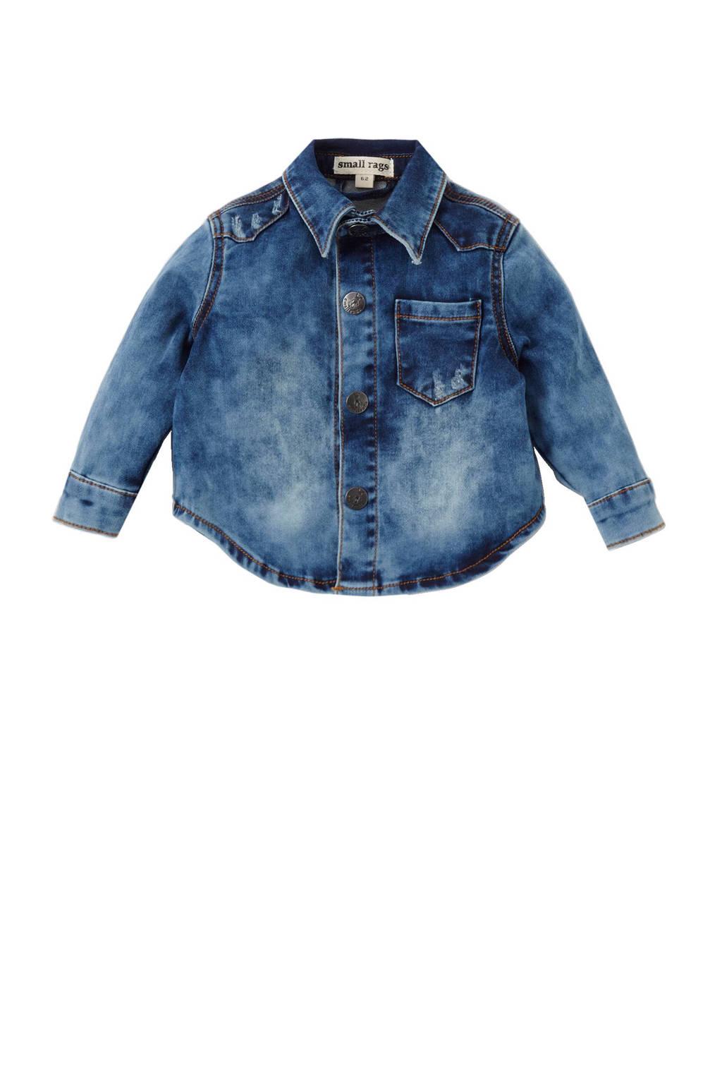 Small Rags denim overhemd Hubert, Blauw